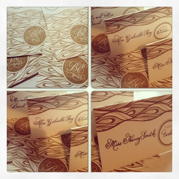 Potpourri Friday: Custom Place Cards with Monogram