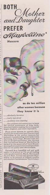 1938 Maybelline ad featuring The Good Housekeeping Stamp of Approval