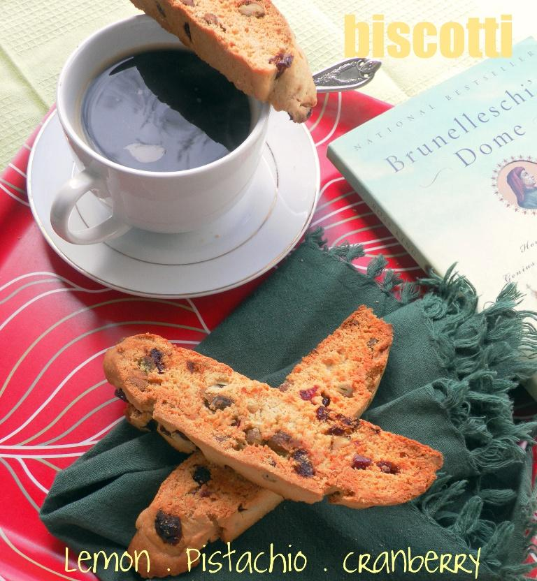 Good Morning with Lemon, Pistachio & Cranberry Biscotti - Paperblog