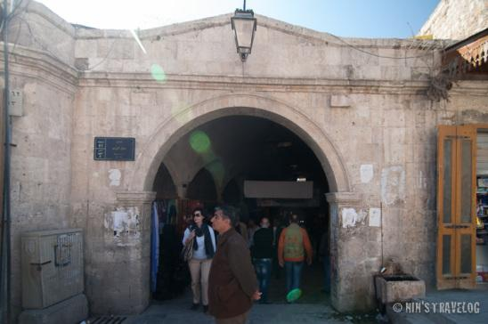 The entrance to the Grand Souk of Aleppo from the citadel