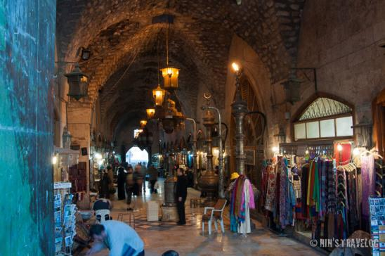 Main entrance of the souk, directly looking at the best copper ornament in the region, with fascinating ceiling as well as corridor's decoration