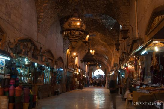 Souk al-Shouneh, built in 1546. Currently functions as a market for trades and traditional handicrafts of Aleppine art.