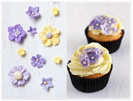 Sugar Art  and Vanilla Cupcakes