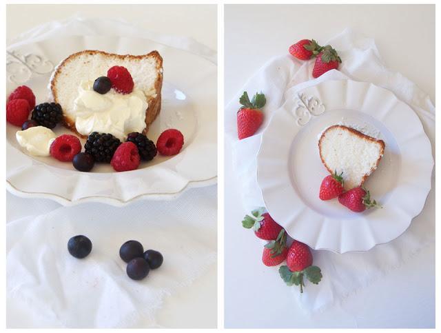 Lemon Essence Angel Food Cake