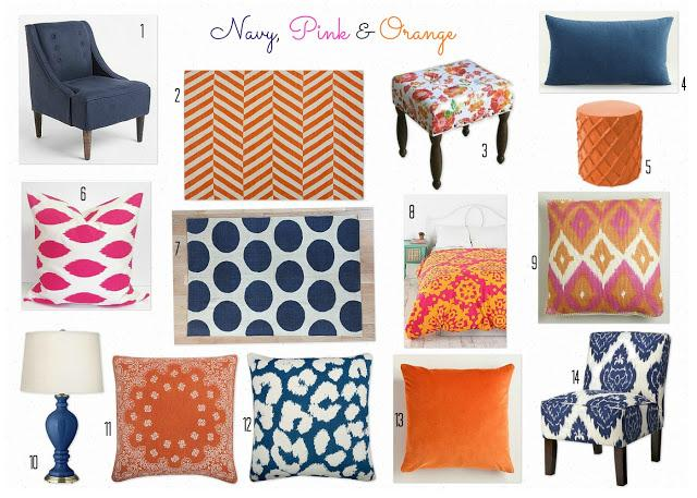 Navy Pink And Orange Paperblog