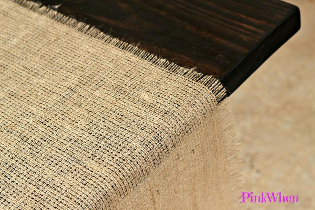 How to make a no sew burlap table runner paperblog for What to make with burlap