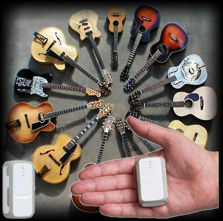 GPS tracking for musical instruments. Mini GPS tracker for guitars.