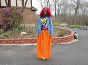 Spring Outfit Day: Bright Orange Maxi Skirt