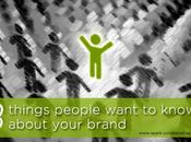 Things People Want Know About Your Brand
