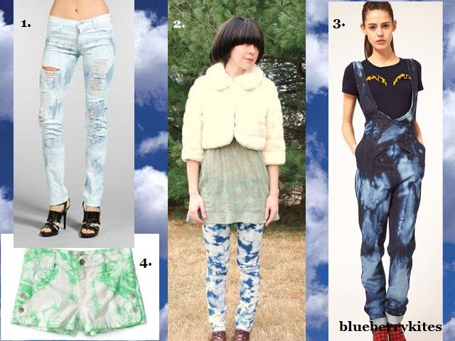 Trending Cloud Wash and Tie & Dye Denim