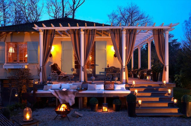 Romantic outdoor space