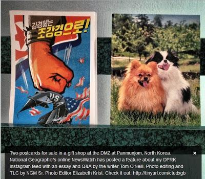 USA bad, puppies good: two postcards for sale in North Korea; earthquakes, Syria chemical weapons