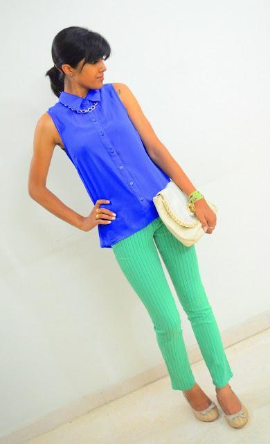 Of green and cobalt blue..