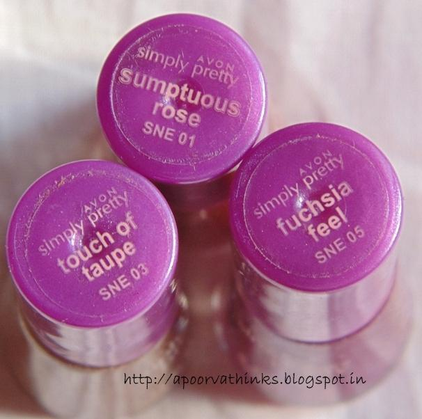 3 Avon Simply Pretty Suede Nail Enamel - Review, Swatches