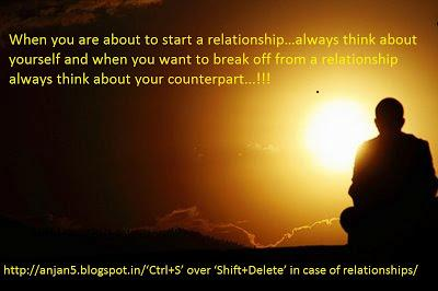 'Ctrl+S' over 'Shift+Delete' in case of relationships