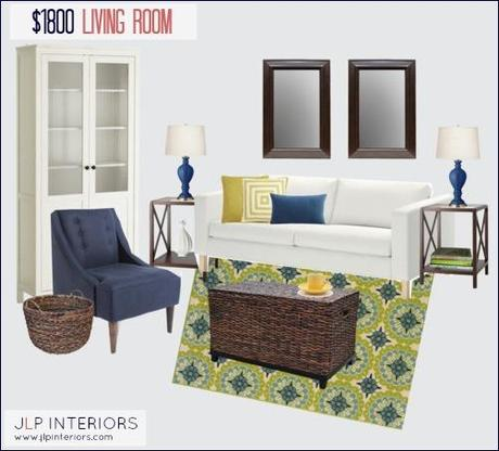 Mood Board Monday (on a Wednesday) - $1800 Living Room Design