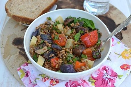 Farro Salad with Roasted Veggies