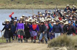 Indigneous Quechua-speakers in Peru have been at the forefront of the battle against Newmont Mining Corp's Minas Conga gold mine.