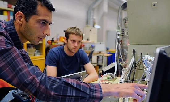 Saeid Haghbin and his co-workers have developed unique solutions for integrated EV chargers. (Photo: Peter Widing)