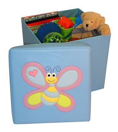 Kids Storage Ottoman with Bee Design