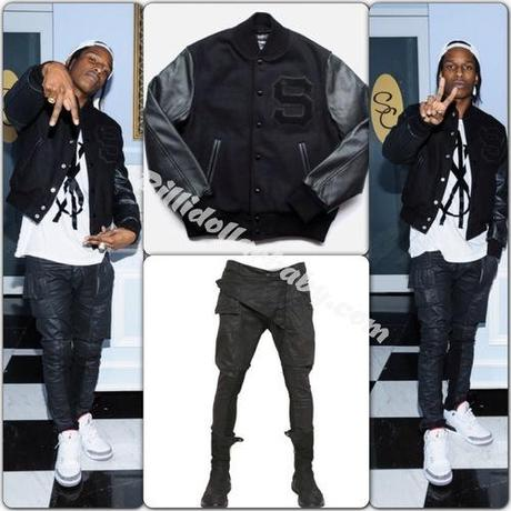 A$AP Rocky dined at Son Cubano Restaurant in NYC wearing Rick...