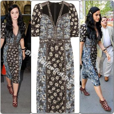 Katy Perry out and about in NYC wearing Bottega Veneta x Bionda...