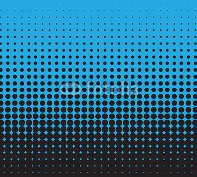 Halftone blue and black, vector background for you design