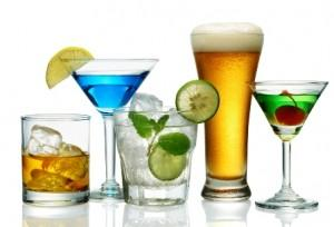 various type of alcoholic drinks
