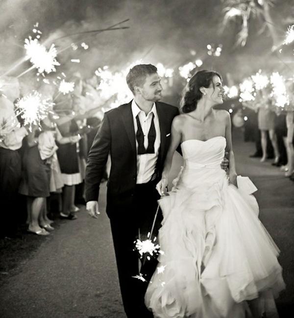 The Wedding Sparkler Send-Off - Paperblog