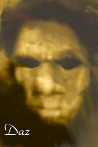 The Hank still from the movie fleshed out with software into a complete face.