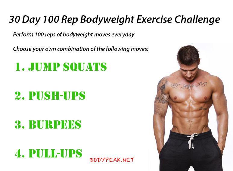 Bodyweight Challenge 30 Days Of Fitness