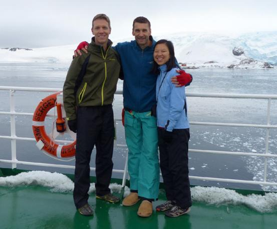 Mike Sohaskey, Rory & Katie Ho on Vavilov in Antarctica
