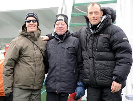 Mike Sohaskey, winner of M(40-49) division for Antarctica Marathon 2013