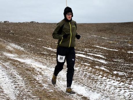 Mike Sohaskey running Antarctica Marathon 2013