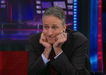 Jon Stewart's googly eyes.