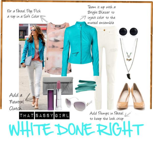 5 Ways to Wear White Denim Now