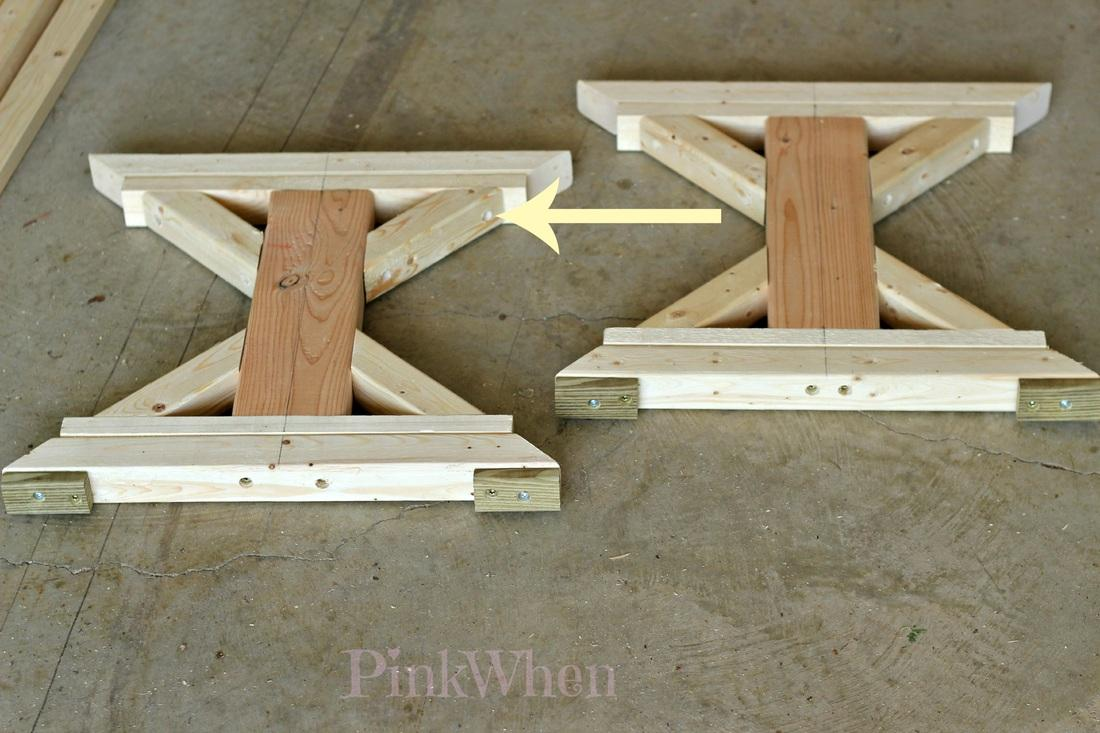 Build a farmhouse bench paperblog for Farmhouse table plans with x legs
