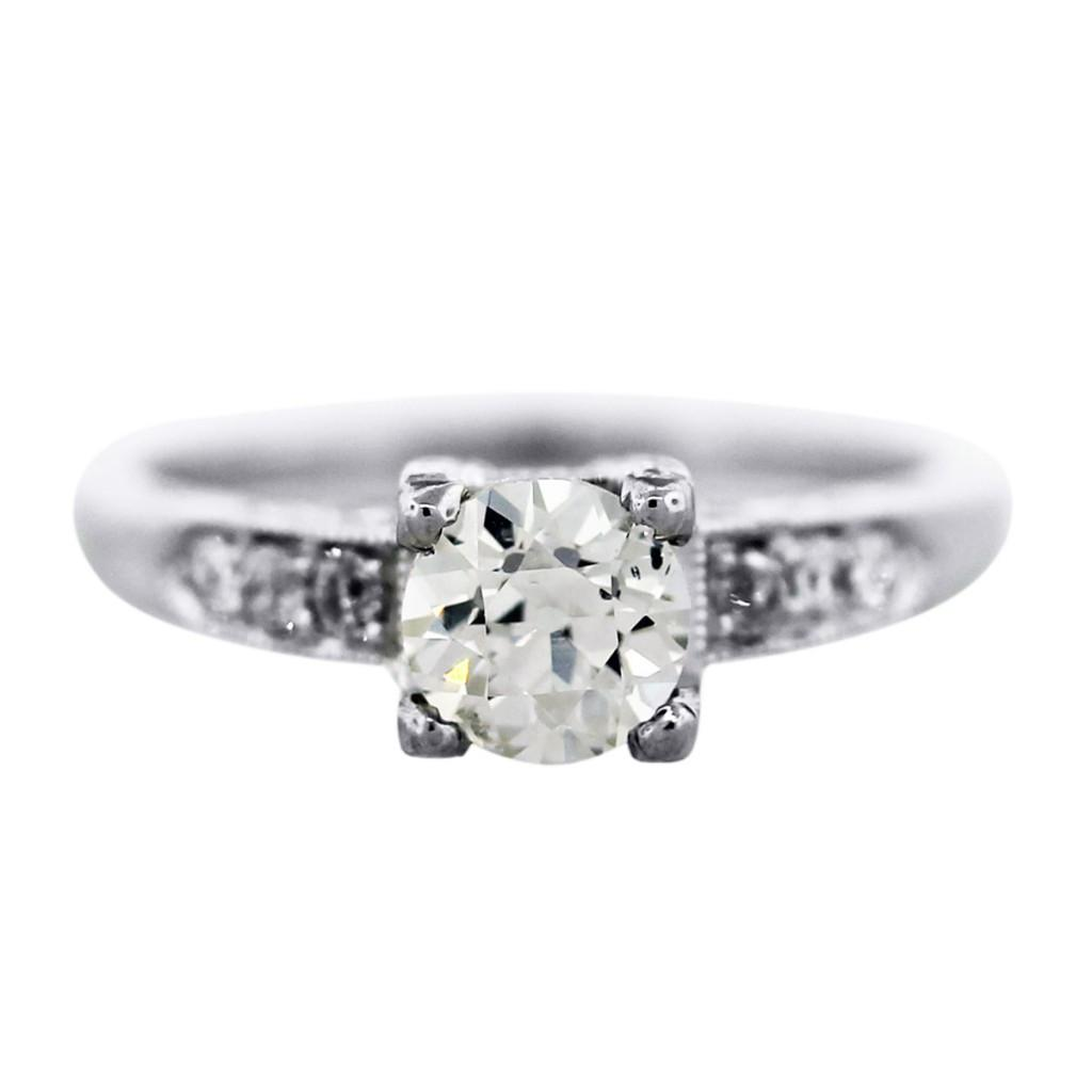 Art Deco Style Engagement Ring, Vintage Style Engagement Ring, Boca Engagement  Ring