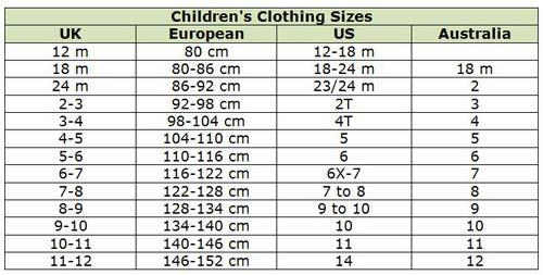 Shopping for Kids/Baby Girls | Shoe Sizes and 5 Best Websites to ...