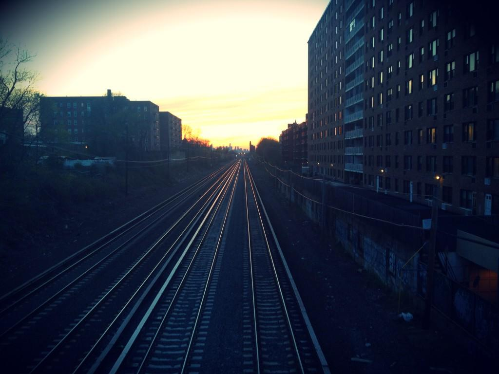 Railroad tracks to Manhattan