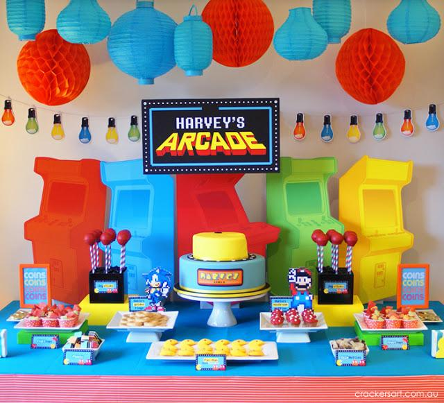 "Harvey's Arcade Party By ""Crackers Art"""