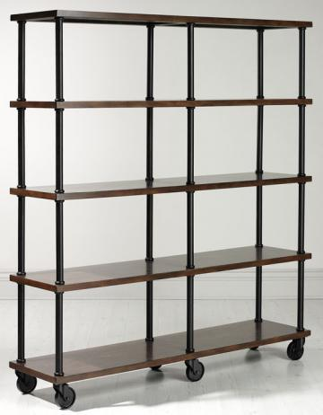 Industrial Mansard Double Bookshelf