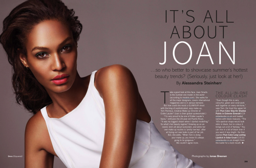 Joan Smalls for Glamour UK June 2013 in It's All About...