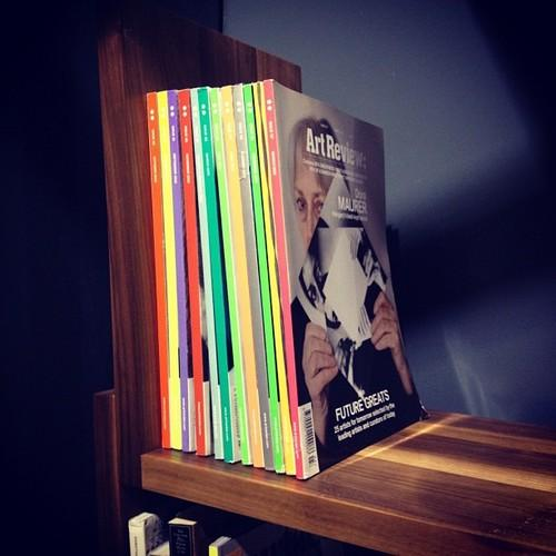 My copies of @artreview look amazing on @calebzipperer's booth at @bklyndesigns.  (at St. Ann's Warehouse)
