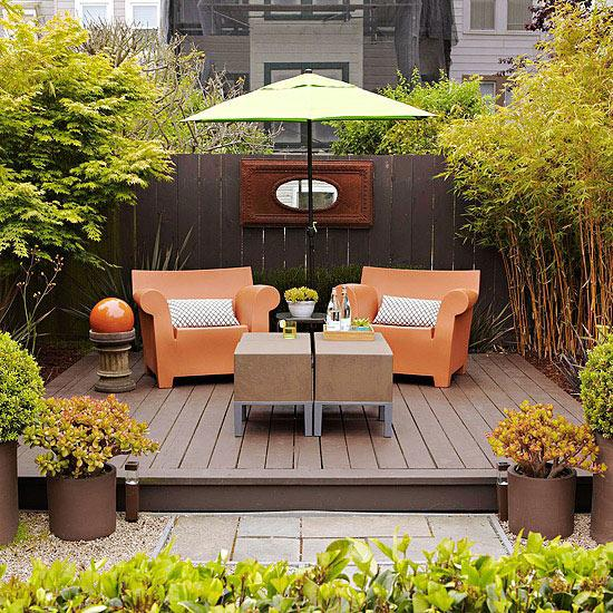 Design ideas for outdoor entertaining spaces paperblog for Small space backyard ideas