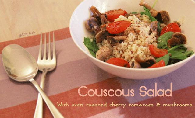 Couscous Salad with Roasted Cherry Tomatoes and Mushroom - Paperblog
