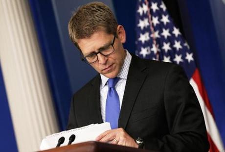 White House Press Secretary Jay Carney Holds Daily Press Briefing