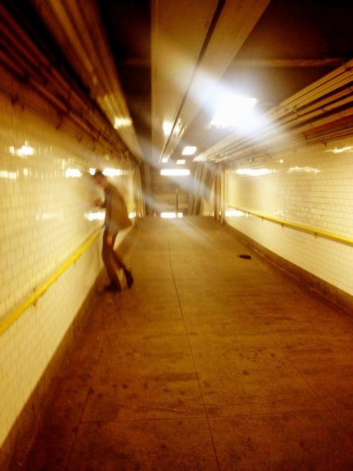Walking to the F train, Saturday night.