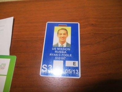Fogle's State Department Embassy ID.