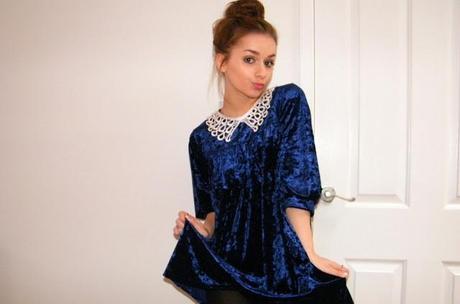 She wore blue velvet...